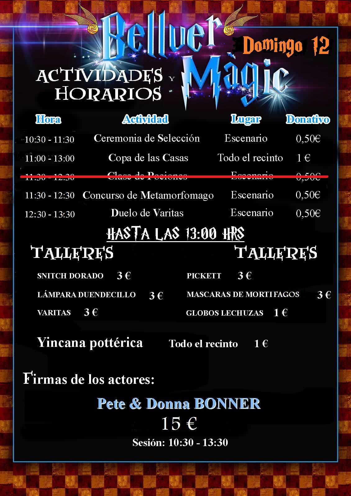 BELLVER MÀGIC: NUEVO HORARIO DOMINGO 12