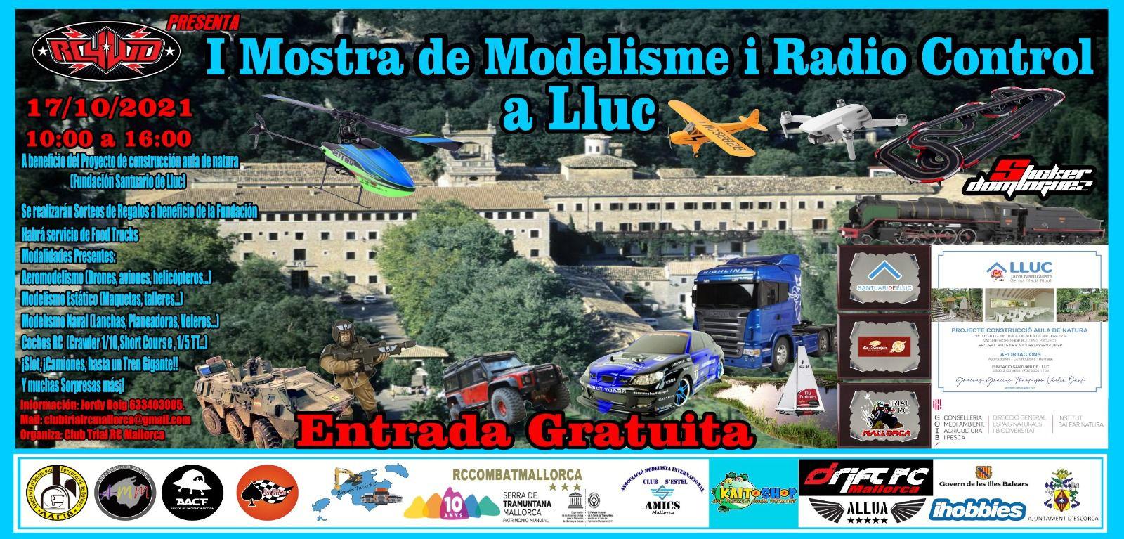 1ª MOSTRA DE MODELISME I RADIO CONTROL A LLUC (17/10/21)